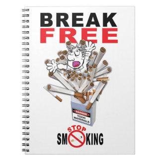 BREAK FREE - Stop Smoking Spiral Notebook