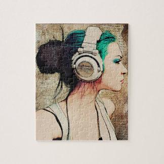 "Break-head ""Woman Music "" Jigsaw Puzzle"
