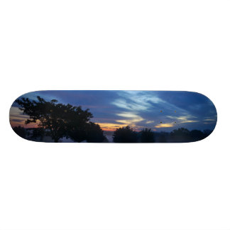 Break Of Dawn And Fog Custom Skateboard