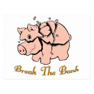 Break The Bank Postcards