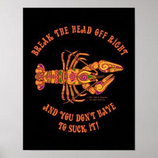 Break the Head Crawfish Print