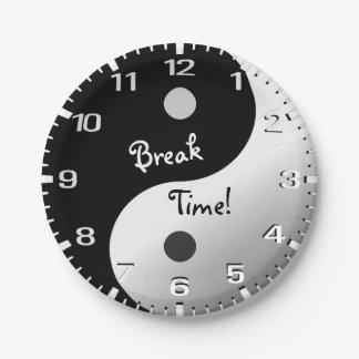 Break Time! 7 Inch Paper Plate