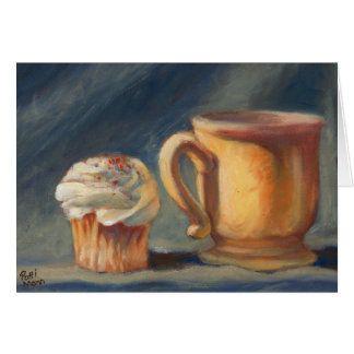 """Break Time"", a coffee & cupcake greeting card"