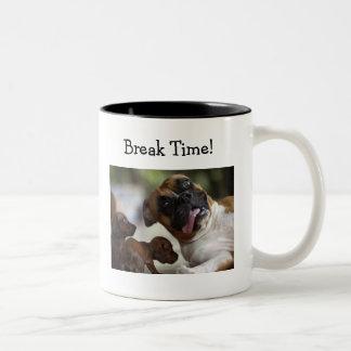 Break Time! Two-Tone Coffee Mug