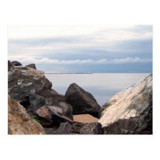 Break Wall On Lake Superior Postcard