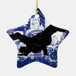 Breakdance Ceramic Star Ornament