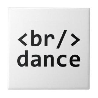 Breakdance Code Ceramic Tile