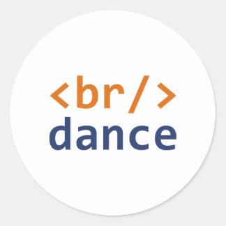 Breakdance Code Round Sticker