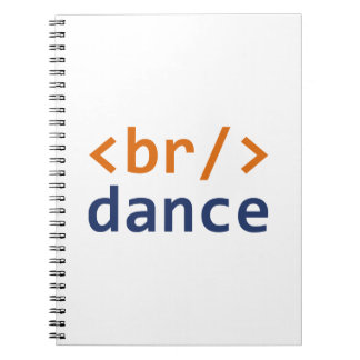 Breakdance Code Spiral Note Book