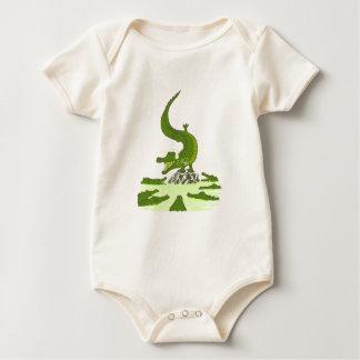 Breakdance crocodile baby bodysuit