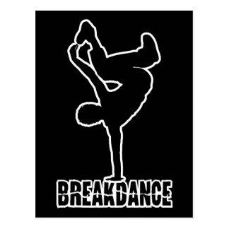 Breakdance custom color postcard