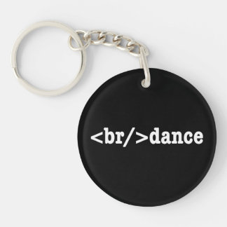 breakdance HTML Double-Sided Round Acrylic Keychain