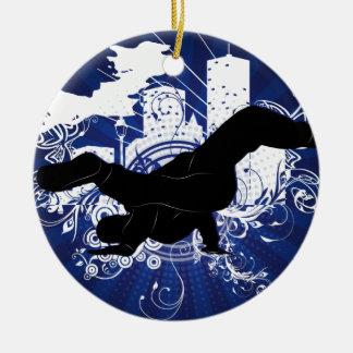 Breakdance Round Ceramic Ornament
