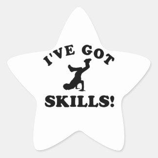 breakdance vector designs star sticker