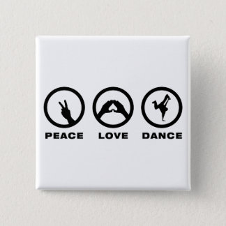 Breakdancing 2 Inch Square Button