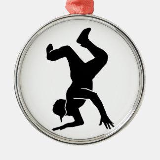 Breakdancing Metal Ornament