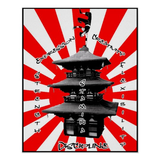 Breakdancing Pagoda of Success Poster