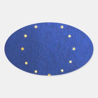 Breakdown Brexit Britain British Economy Eu Euro Oval Sticker