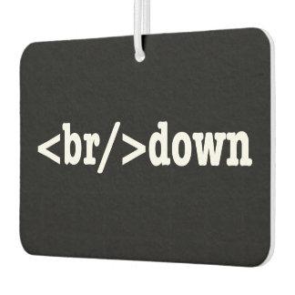 breakdown HTML Code Air Freshener