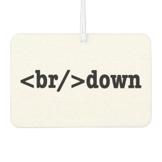 breakdown HTML Code Car Air Freshener