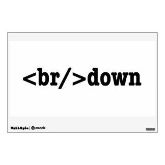 breakdown HTML Code Wall Decal