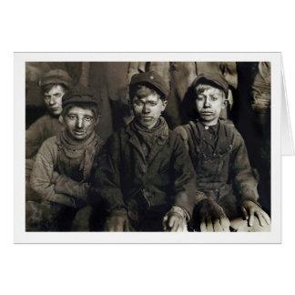 Breaker Boys in Pittston, PA 1911 Card