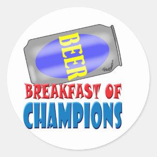 Breakfast Beer Round Sticker