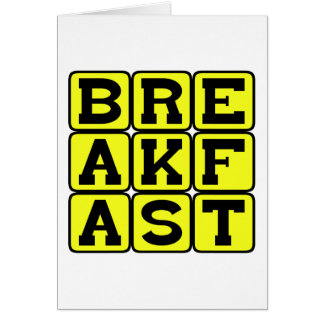 Breakfast, First Meal of the Day Cards