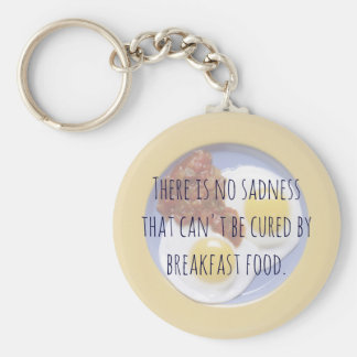 Breakfast Food Eggs on Plate Funny Motivational Keychain