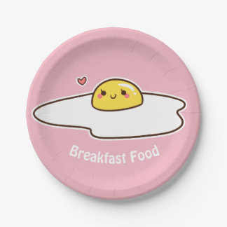 Breakfast Food Paper Plate