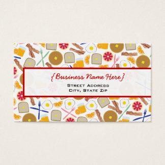 Breakfast Foods Business Card