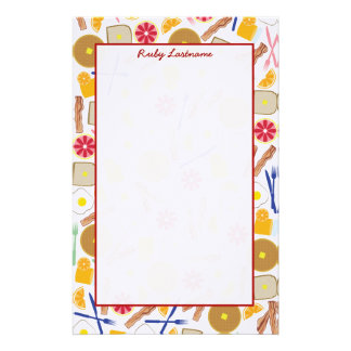 Breakfast Foods Personalized Stationery