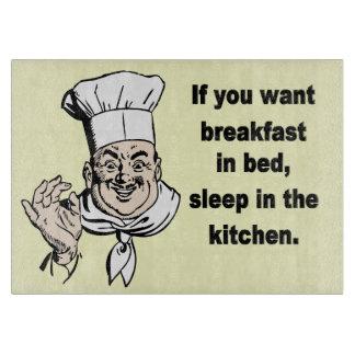 Breakfast in bed cutting boards