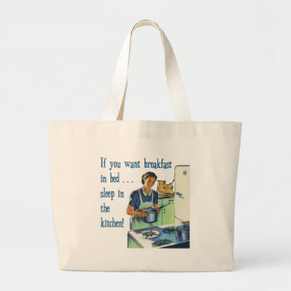 Breakfast in Bed Large Tote Bag