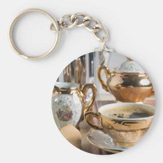 Breakfast in vintage style - espresso and Savoiard Keychain