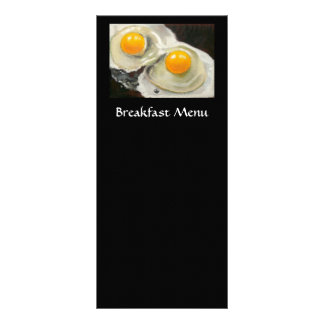BREAKFAST MENU RACK CARD: EGGS: ARTWORK RACK CARDS