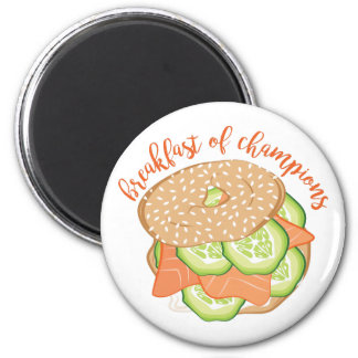 Breakfast Of Champions 2 Inch Round Magnet