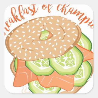 Breakfast Of Champions Square Sticker