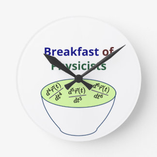 Breakfast of Physicists Wall Clocks