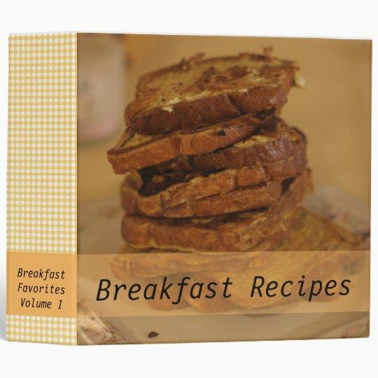 Breakfast Recipes French Toast Photo Binder
