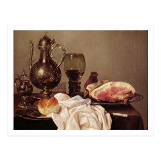 Breakfast Still Life (oil on panel) Postcard