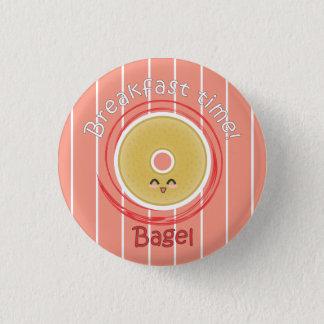 Breakfast Time - Bagel 1 Inch Round Button