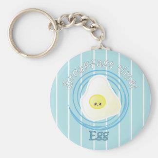 Breakfast Time - Egg Basic Round Button Keychain