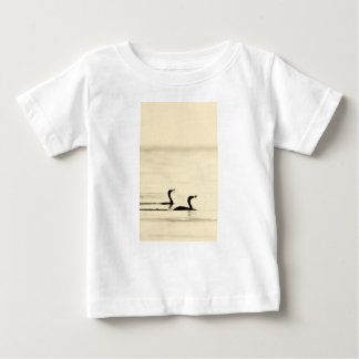 Breakfast Time for Two Cormorants Baby T-Shirt
