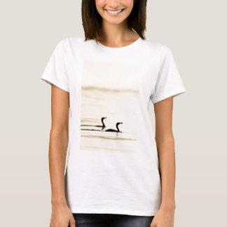 Breakfast Time for Two Cormorants T-Shirt