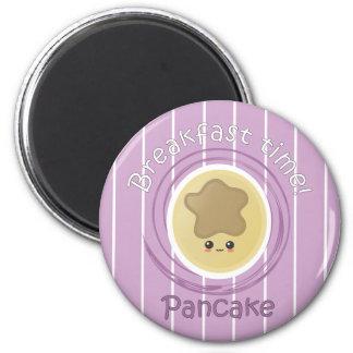 Breakfast Time - Pancake 2 Inch Round Magnet