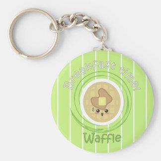 Breakfast Time - Waffle Keychain