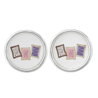 Breakfast Toaster Pastries Frosted Pastry Foodie Cuff Links