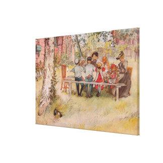 Breakfast Under the Big Birch by Carl Larsson Canvas Print