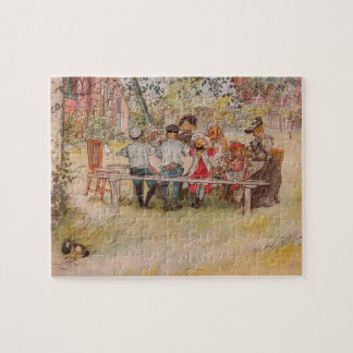 Breakfast Under the Big Birch by Carl Larsson Jigsaw Puzzle